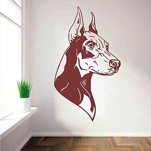 57 * 33cm venta caliente casa pared muro decorativo Decal Doberman perro derecha y izquierda wall sticker vinilo mural de la pared para la decoracion del dormitorio