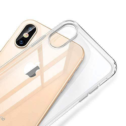 ESR Cover per iPhone XS Max 2018, Custodia Gel Trasparente Morbida Silicone Sottile TPU [Ultra Leggera e Chiaro] per Apple iPhone XS Max (Trasparente).