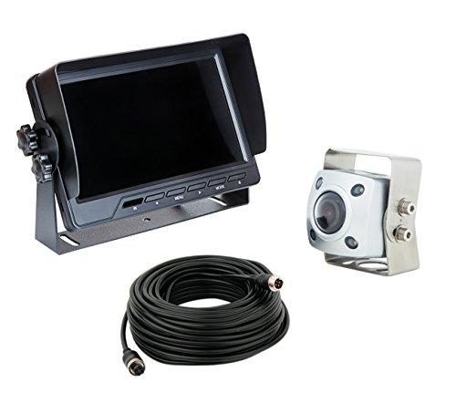 VSG IP69K professionale / estremamente robusto / massima classe di protezione IP69K / 154° & 600 linee TV / 12-24 Volt / Heavy-Duty / cavo di 20 m / 2 ingressi video / serie PRO-Expert
