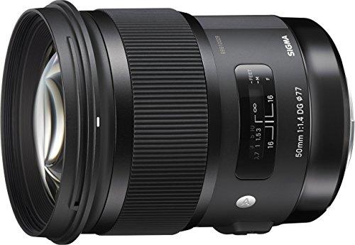 Sigma 50 mm f/1.4 - Objetivo para Nikon (50mm, f/1.4, zoom óptico 1x, 77 mm), color negro