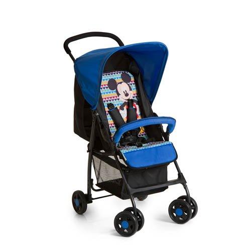 Hauck 171370 Mickey Geo Passeggino Sport, con Seduta in Posizione Distesa, Pieghevole, per Bambini a Partire da 0 Mesi fino a 15 kg, Disney Mickey Geo Blue (Blu)