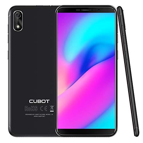 "CUBOT J3 (2018) Pantalla 18:9/5.0"" Android GO Reconocimiento Facial Dual Sim 1GB + 16GB, Cámara Trasera 8MP / Frontal 5MP, Procesador Quad-Core MT6580, WiFi, Bluetooth,GPS, 2G 3G 2000 mAh Negro"