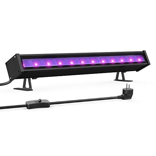 Onforu 24W Barra LED UV, 48 LEDsLampada di Luce Nera, UV Luce Effetto con Cavo di Alimentazione...