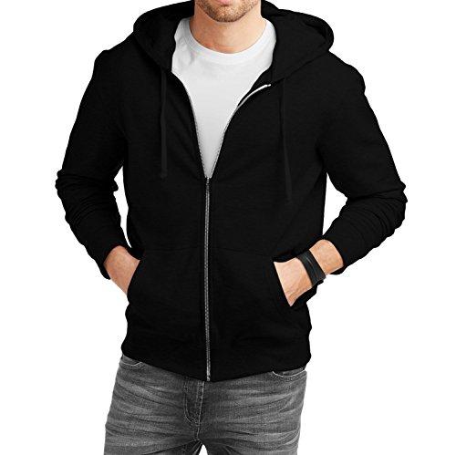 fanideazMen's Cotton Hoodies for Men_Black_M