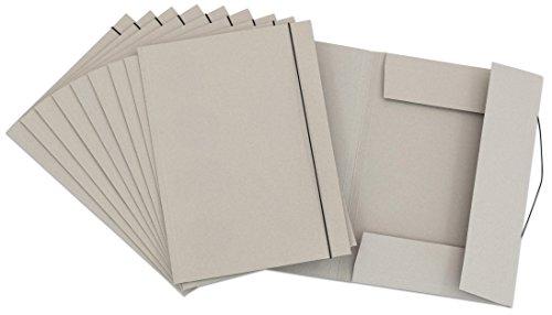 Unbekannt Sammelmappe DIN A3-10 x Aufbewahrungs-Mappe mit Gummi-Band - Ordnungsmappe Zeichnungsmappe Zeichnungen Kinder aufbewahren