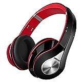 Mpow 059 Auriculares Diadema Bluetooth Inalambricos, Cascos Bluetooth Inalambricos Plegable con Micrófono, 20hrs Reproducción de Música, Hi-Fi Sonido Estéreo para TV, PC, Móviles, Rojo