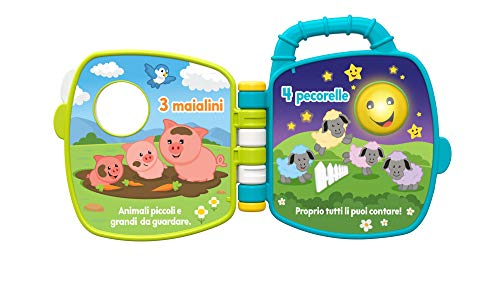 Fisher-Price Libro Degli Animali 123, Giocattolo per Bambini di 6 + Mesi per Imparare Parole,...