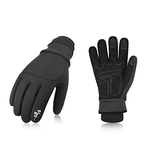 Vgo, Circa 0℃, 3M Thinsulate C40, Guanti invernali, guanti da inverno, in pelle sintetica,...