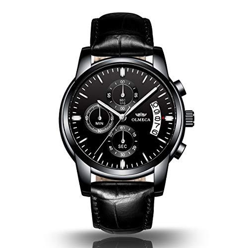 Orologio Uomo Orologio da Polso al Quarzo acciaio inossidabile impermeabile sportivo cronografo.