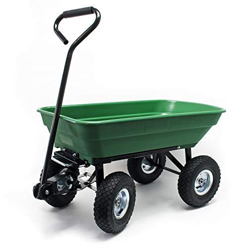 Gartenwagen mit Kippfunktion, Volumen 125l, Tragkraft 350kg, Handwagen Bollerwagen