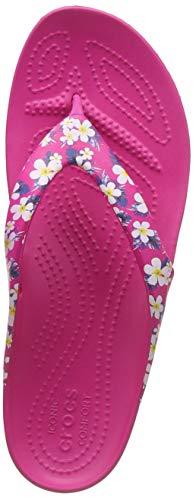 Crocs Kadee II Seasonal Flip W Scarpe da Spiaggia e Piscina Donna, Multicolore (Floral/Candy Pink...