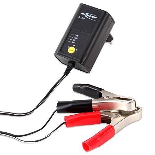 ANSMANN Autobatterie Ladegerät ALCS 2-12/0.4 - Vollautomatisches Batterieladegerät für Autobatterien & Bleiakkus mit 2V, 6V, 12V / 400mA - Erhaltungsladegerät ideal für PKW, Motorrad, Roller