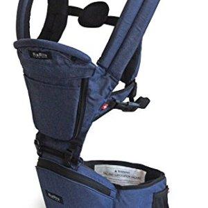 Portabebés para Niños y Recién nacidos hasta 20 kilos MiaMily HIPSTER+, Mochila para bebé Senderismo con 9 Posiciones y Diseño Ergonómico con protección para las caderas del bebé o niño (Gris) 4