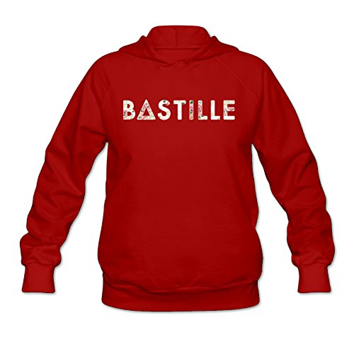 cedaei Bas británico de la mujer TILLE Indie pop banda Sudaderas con capucha sudadera con capucha sin bolsillo canguro rojo