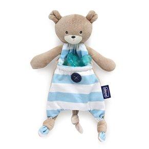 Chicco Pocket Friend - Guarda chupetes de peluche con bolsillo, azul