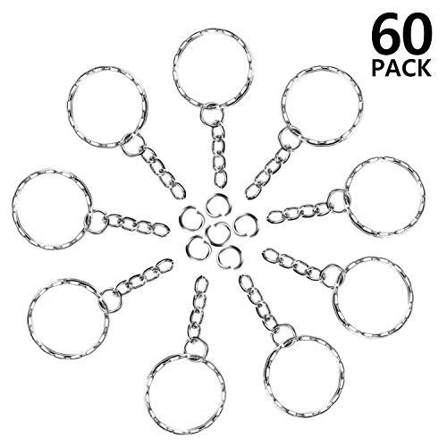 Foonii 60 pezzi Portachiavi Key chain portachiavi Lotto 25 mm cerchio piatto Diametro interno...