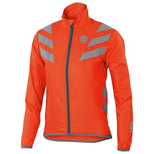 SPORTFUL-Reflex Jacket Junior, Colore: Arancione, Argento, Taglia 10e