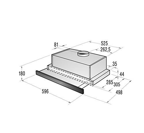 Gorenje DKF 2600 MSB Integrato Nero 250m³/h E cappa aspirante