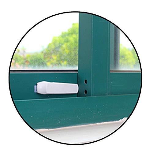 Safe-O-Kid - Pack of 2 Fit-All, Velcro Based, Sleek Wedge Shaped Sliding Door/Window Lock