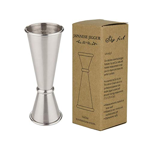 SKY FISH Japanese Style Jigger,Misurini per Cocktail, Stainless Steel Double Cocktail Jigger 1oz,...