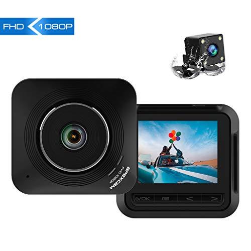 Apexcam【2019 Nuova Versione】Dash Cam Telecamera per Auto 2,2 Pollici 1080P FHD con Obiettivo Grandangolare 170° e WDR Visione Notturna Dashcam con Registrazione a doppia Lente in Loop G-Sensor