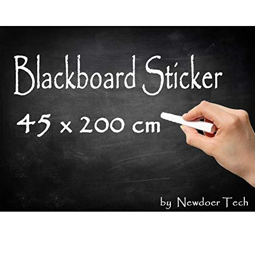 Newdoer, lavagna extra grande rimovibile in vinile, impermeabile, adesiva, da parete, per la scuola,...