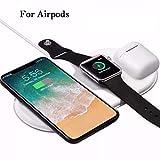 Chargeur sans fil 3 en 1, Dkings chargeur sans fil portable charge rapide AirPower pour iWatch pour iPhone pour Airpods 2