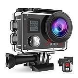 Campark ACT76 Action Cam 4K Wi-Fi 16MP FHD Impermeabile 30M Immersione Sott'Acqua Camera con Schermo 2 Pollici 170 Gradi Ampia Vista Grandangolare/Telecomando 2.4G/Kit Accessori