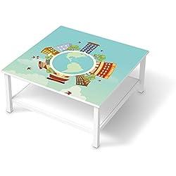 Folie für IKEA Hemnes Couchtisch 90x90 cm | Design Möbel-Sticker Folie Möbelfolie selbstklebend | Einrichtung stylen Wohndeko | Design Motiv Planetastic