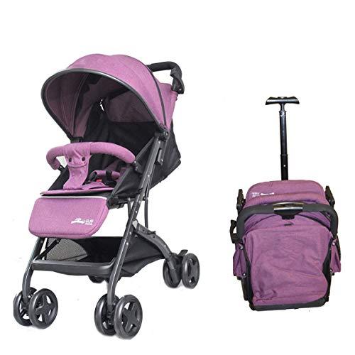 Little Bambino Passeggino da Viaggio Pieghevole per Neonati e Bambini | Passeggini Compatti | Passeggino Carrozzina per Bambini dai 6 ai 36 Mesi (Viola)