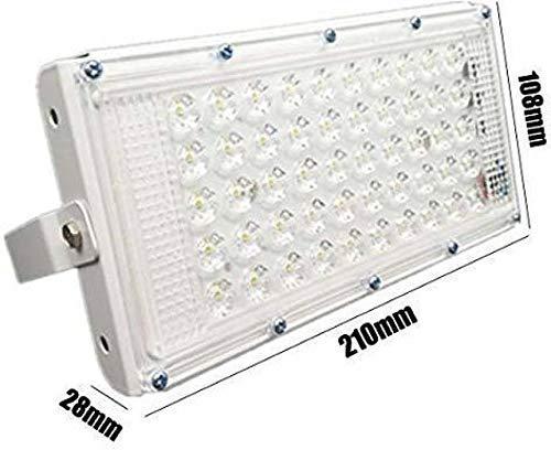 HimackTM New High Power led 50watt LED watt Ultra Thin Slim IP66 IP6667/50 LED Flood Outdoor Light Cool White Waterproof