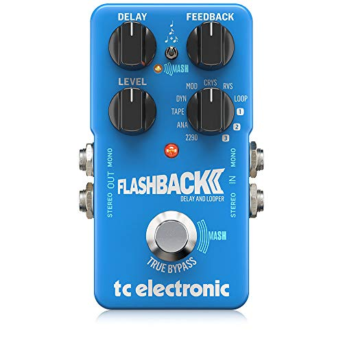 tc electronic Flashback 2 Delay Legendary Pedal with Groundbreaking MASH Footswitch/Crystal Delay Effect