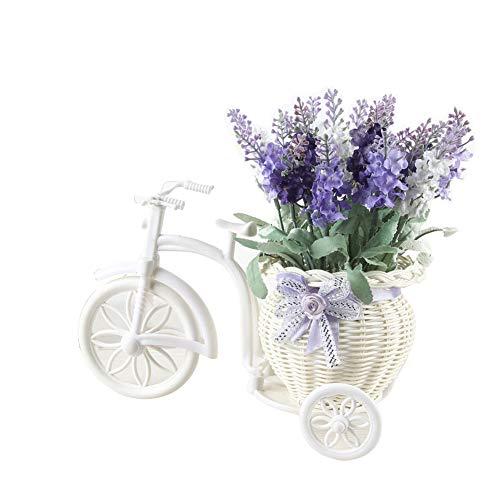 Homeofying - 1 Ramo de Flores de Lavanda Artificial de ratán con Maceta para decoración de Bodas y Fiestas