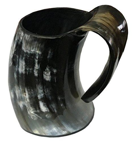 Vero Fatto a mano Corno Viking Per bere Mug Coppe Birra birra Calice Vino Game of Thrones Boccale Mead Medievale In tela di juta Regalo Tumbler corno di bue Bicchiere Vasi