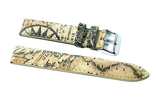 Cinturino orologio vera pelle imbottito ansa 18mm tipo alviero martini 1° classe