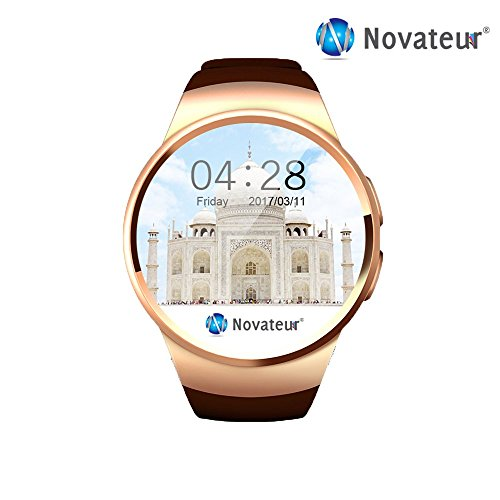 Novateur All-in-1 Smart Watch & Smart Phone, Fitness Band and activity tracker, Suitable with APPLE iphone 6, SAMSUNG, HTC, XIOMI and etc. (Color : BLACK)