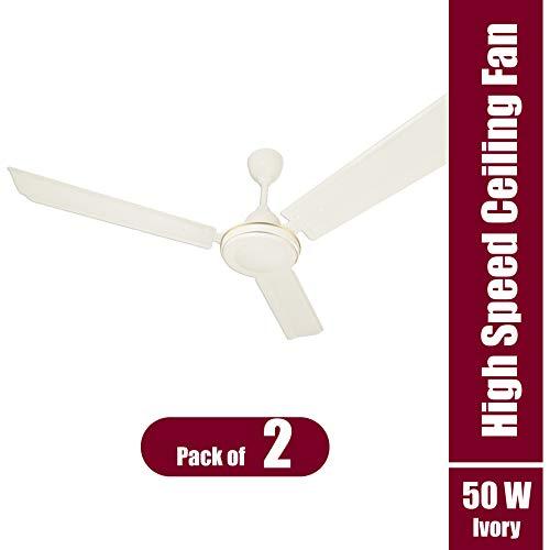 iMee Cyclone 50 Watts 3 Blades High Speed Energy Saving Ceiling Fan, 1200 mm Sweep (Ivory) - Pack of 02