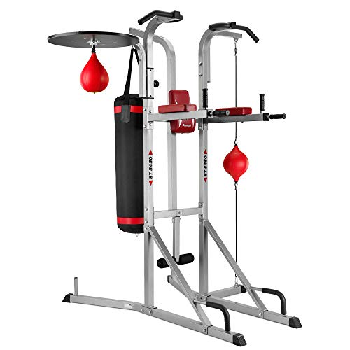 BH Fitness ST5450 G545 Multistazione rigida per tutto il corpo con pungiball e sacco. Per trazioni,...