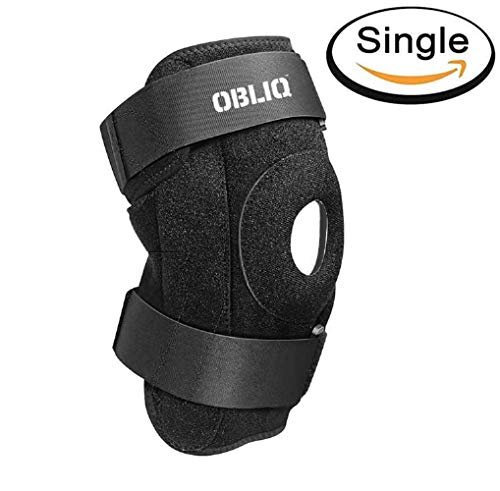 OBLIQ Hinged Knee Braces for Men/Women with Lateral Support Dual Stabilizers - Fits Upto 20 Inches