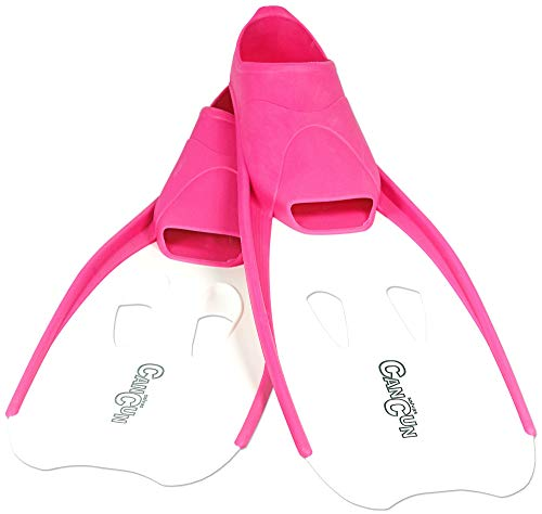 AQUAZON Pinne Bambino Flipper, Pinne da Sub, Ideali per Lo Snorkeling, Le Immersioni o Come Pinne da Nuoto o per Lo Snorkeling, Size:27-30, Colour:Pink-White