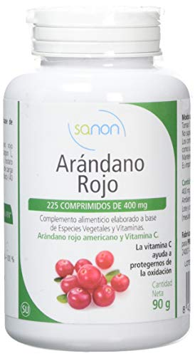 SANON - SANON Arándano Rojo Americano y Vitamina C 225 comprimidos de 400 mg
