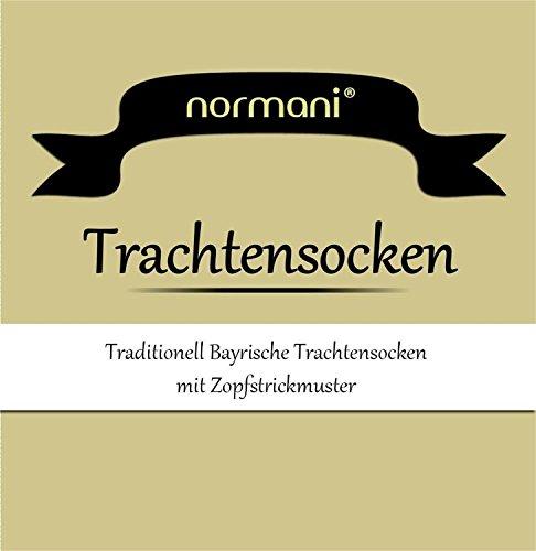 normani LANGE Trachtensocken Trachten Strümpfe für lederhosen Kniebund Socken Natur Farbe Weiß Größe 35/38 - 2