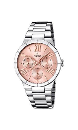 Festina Damen Analog Quarz Uhr mit Edelstahl Armband F16716/3