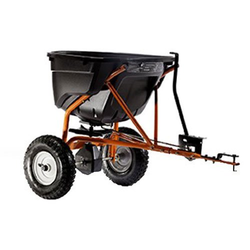 Agri-Fab AG45-0463 SmartSPREADER Düngerstreuer/Streuwagen, zum Anhängen, 58 kg, Schwarz/Orange