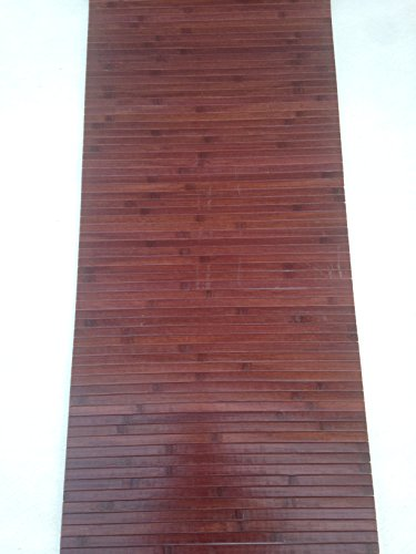 Tappeto bamboo a METRAGGIO vari colori disponibili ANTISCIVOLO (cucina bagnpo camera sauna) (Mogano)