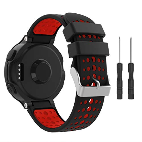 SUPORE per Garmin Forerunner 235 Cinturino, Accessori Morbido Cinturino di Ricambio in Silicone Stampa per Garmin Forerunner 220/230/235/620/630/735 Smart Watch