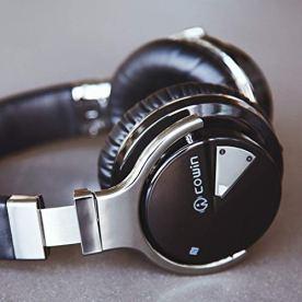 COWIN-E7-Auriculares-inalmbricos-Bluetooth-con-Bajos-Profundos-Almohadillas-de-Proteccin-Cmodo-30-Horas-de-Tiempo-de-Juego-para-Viajes-Negro