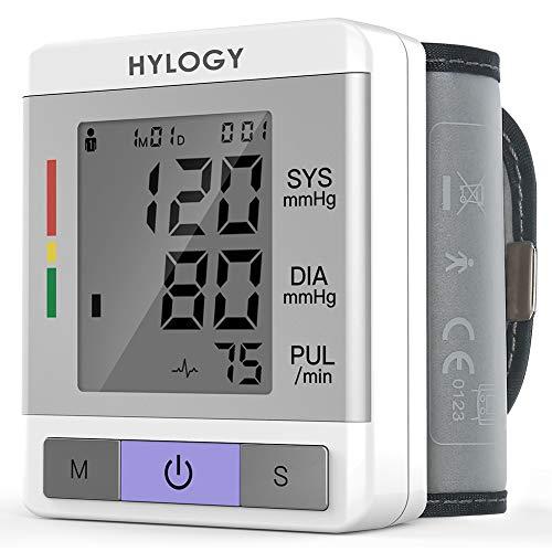 HYLOGY Misuratore di Pressione da Polso, Sfigmomanometro da Polso Professionale e Pulsazione...