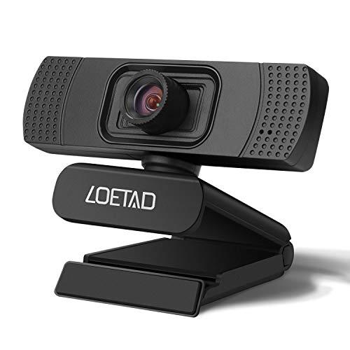 LOETAD Webcam PC HD 1080P Telecamera PC con Microfono Stereo per Video Chat e Registrazione,...