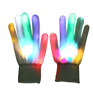 Vicloon LED leuchtende Finger-Handschuhe 1